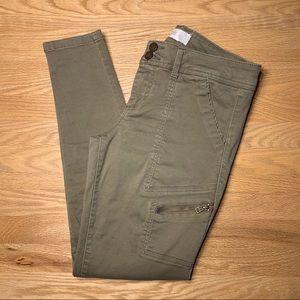 Skinny cargo khaki pants